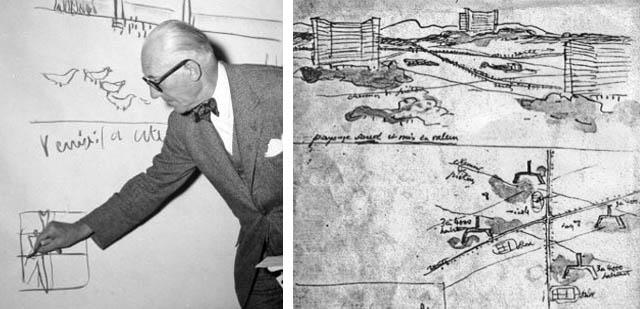 Le Corbusier Sketching